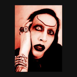 Marilyn Manson - Portrait Stamp 1