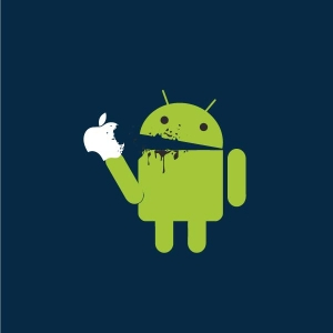 Android eat Apple