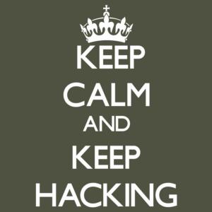 keep calm and keep hacking
