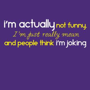 mean joking