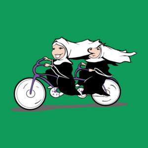 nuns on bike