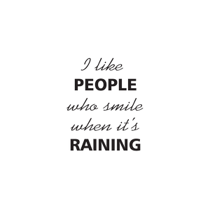people raining