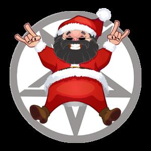 Music Στάμπα Santa Metalhead