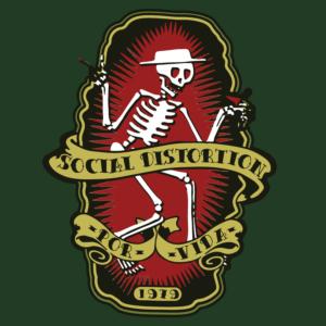 social distrotion - dancing skull