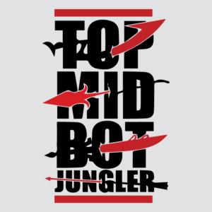 top mid bot jungler
