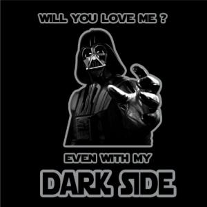 Αστεία Στάμπα Love Me In The Dark Side