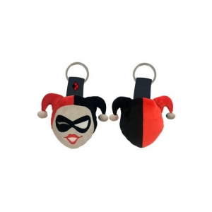 DC Comics Plush Keychain Harley Quinn Face 6 cm