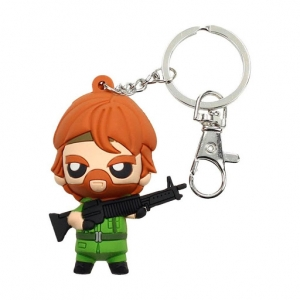 Chuck Norris Pokis Rubber Keychain Missing inAction 6 cm